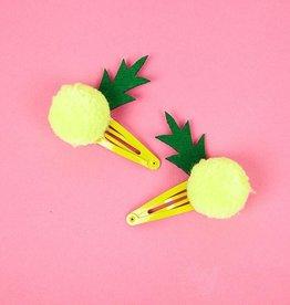 Meri Meri Meri Meri Pineapple Pom Pom Hairclips