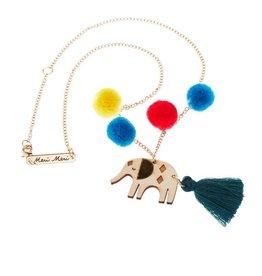 Meri Meri Meri Meri Pom Pom Elephant Necklace