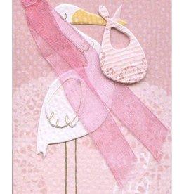 Meri Meri Meri Meri Pink Stork Gift Enclosure