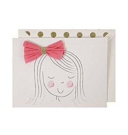 Meri Meri Meri Meri Girl with Bow Birthday Card