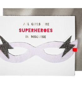 Meri Meri Meri Meri Girl Superhero Birthday Card