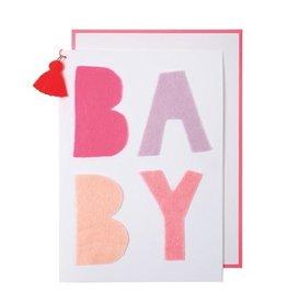 Meri Meri Meri Meri Pink Felt Baby Card