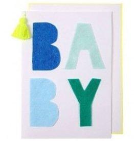 Meri Meri Meri Meri Blue Felt Baby Card