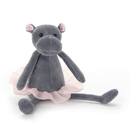 "JellyCat Jelly Cat Dancing Darcey Hippo 9"" Small"