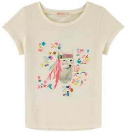 Billieblush Billieblush Jersey Tee with Fox Graphic
