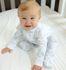 Feather Baby Feather Baby Sleepy Whales Zipper Footie