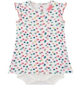 Petit Bateau Petit Bateau Printed Short Sleeve Bodysuit Dress