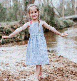 Thimble Thimble Seersucker Stripe T-Back Dress