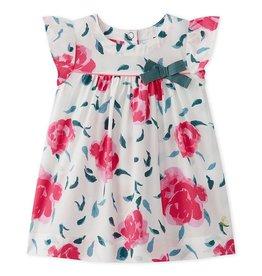 Petit Bateau Petit Bateau Short Sleeve Floral Dress