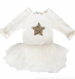 Petite Hailey Petite Hailey Baby Long Sleeve Tutu with Star