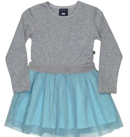 tooby doo Tooby Doo Long Sleeve Sparkle Belted Tulle Dress