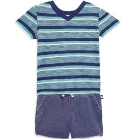 Splendid Splendid Striped V-Neck Tee Set