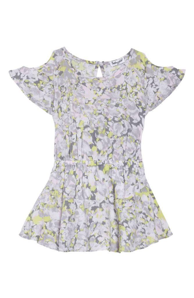 Splendid Splendid Cold Shoulder Voile Dress