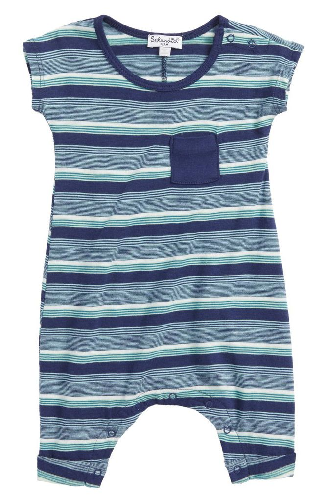 Splendid Splendid Stripe Pocket Onesie