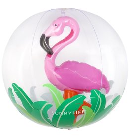 Sunny Life Sunny Life 3D Inflatable Flamingo Beach Ball