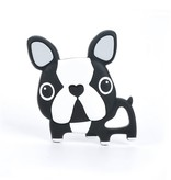 Loulou Lollipop Loulou Lollipop Black Boston Terrier Silicone Teether
