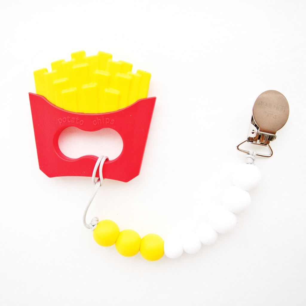 Loulou Lollipop Loulou Lollipop Fries Silicone Teether with Holder Set