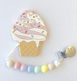 Loulou Lollipop Loulou Lollipop Ice Cream Silicone Teether with Holder Set