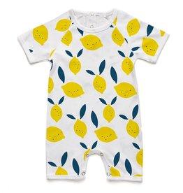 Soft Baby Soft Baby Organic Lemon Short Romper