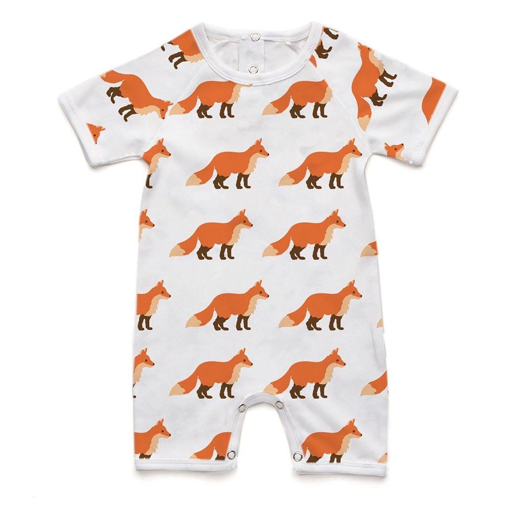 Soft Baby Soft Baby Organic Fox Short Romper