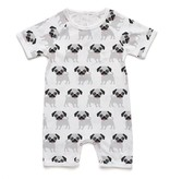 Soft Baby Soft Baby Organic Pug Short Romper