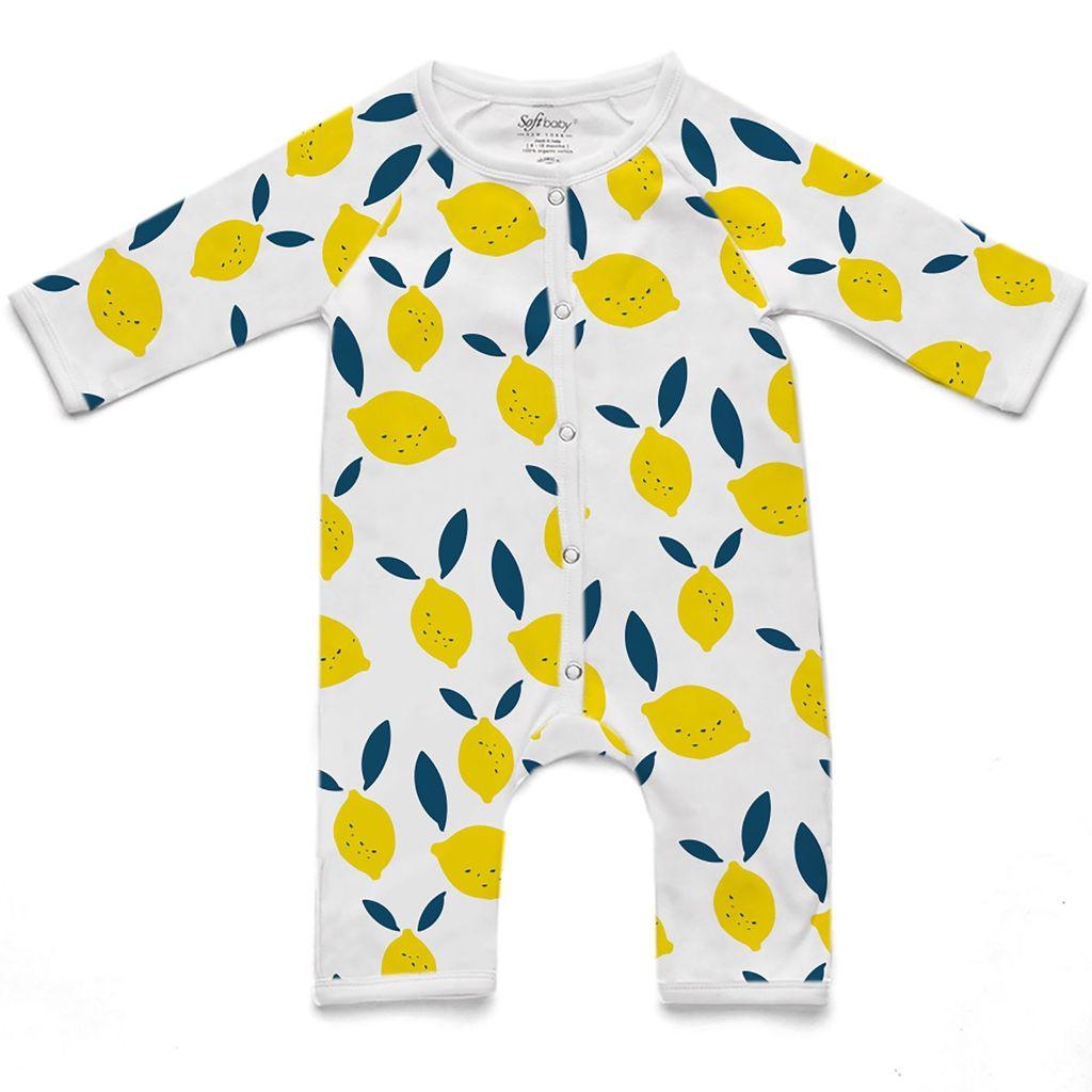 Soft Baby Soft Baby Organic Lemon Long Romper