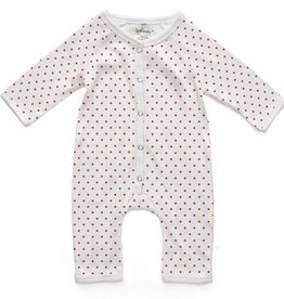 Soft Baby Soft Baby Organic Polka Dot Long Romper