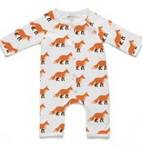 Soft Baby Soft Baby Organic Fox Long Romper