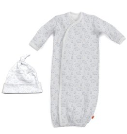 Magnificent Baby Magnificent Baby Celebration Organic Cotton Gown and Hat Set