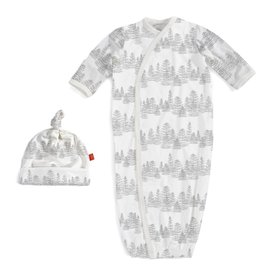 Magnificent Baby Magnificent Baby Aspen Modal Gown and Hat Set