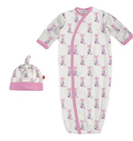 Magnificent Baby Magnificent Baby Cool as Fox Modal Gown and Hat Set