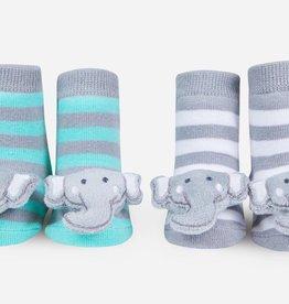 Waddle Waddle Elephant Rattle Socks