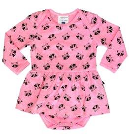 tooby doo Tooby Doo Baby Raccoon Ballerina Bodysuit Dress