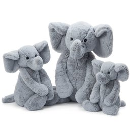 JellyCat Jelly Cat Bashful Gray Elephant Large