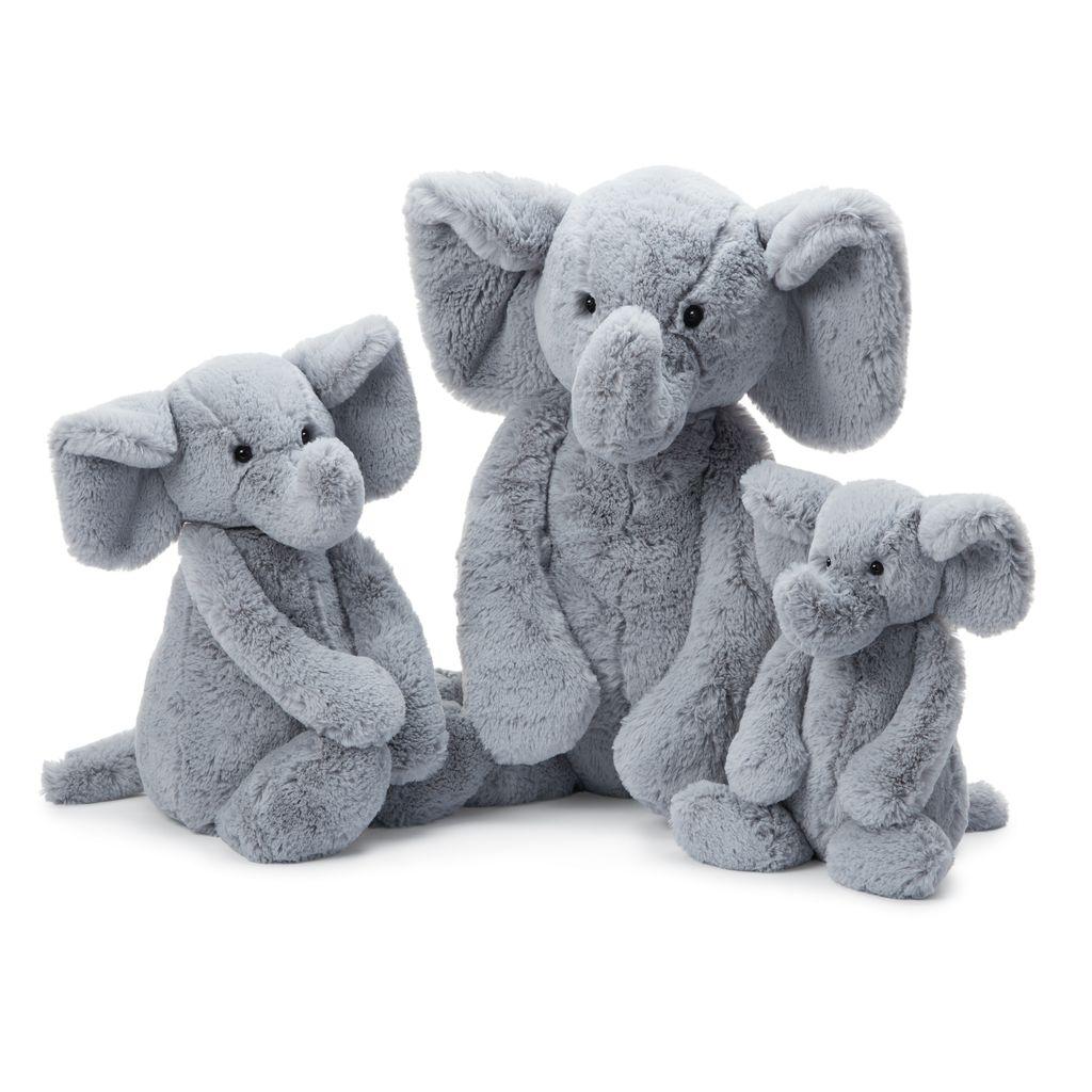 JellyCat Jelly Cat Bashful Gray Elephant Large