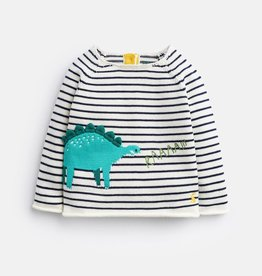 Joules Joules Striped Dinosaur Top