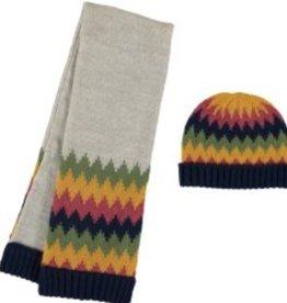 Mayoral Mayoral Stripes Hat and Scarf Set