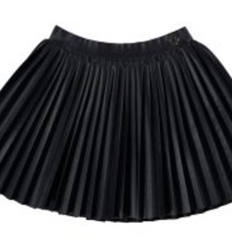 Mayoral Mayoral Faux Leather Pleated Skirt