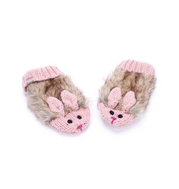 Peppercorn Kids Peppercorn Kids Faux Fur Cozy Cute Bunny Mittens