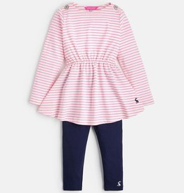 Joules Joules Striped Dress and Legging Set