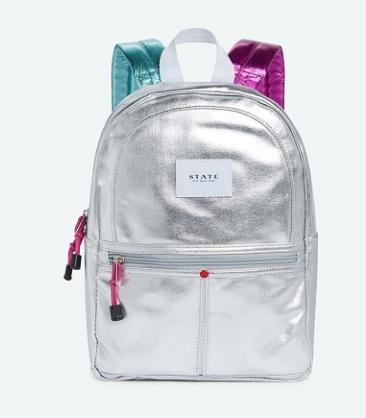 State State Mini Kane Backpack - Silver