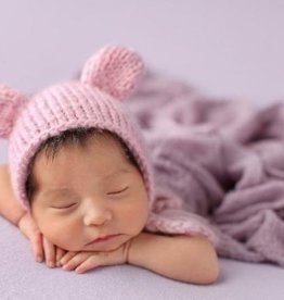 The Blueberry Hill The Blueberry Hill Pink Bear Knit Hat