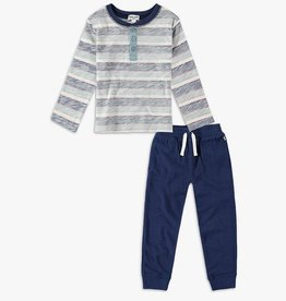 Splendid Splendid Reverse Striped Longsleeve Set