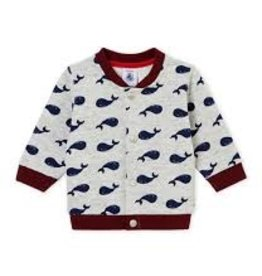 Petit Bateau Petit Bateau Whale Print Sweat Jacket