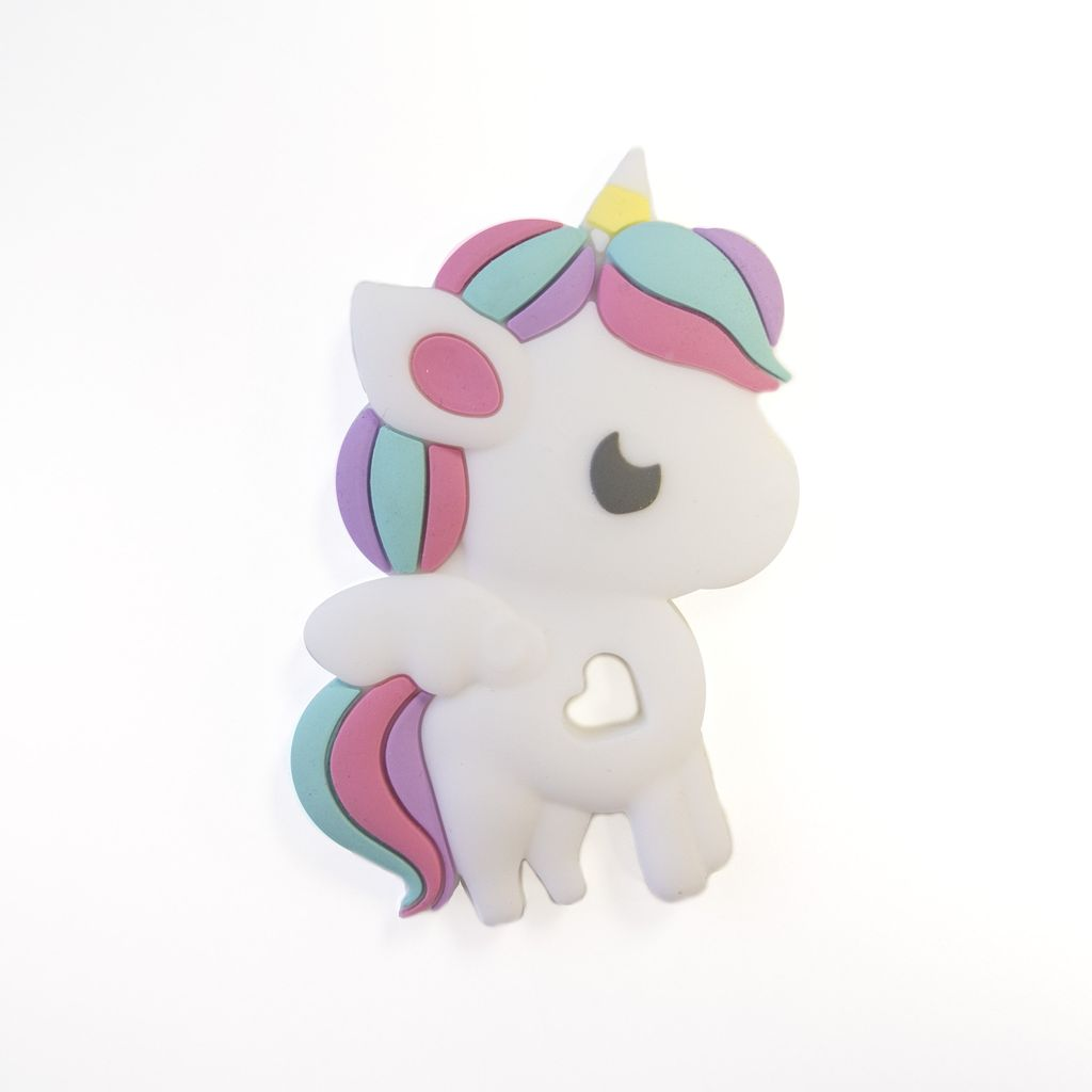 Loulou Lollipop Loulou Lollipop Rainbow Unicorn Silicone Teether