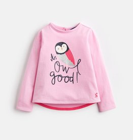 Joules Joules Owl Screen Print Top