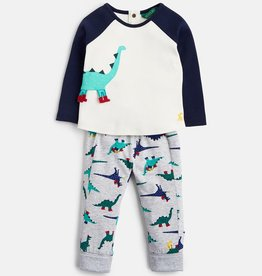 Joules Joules Dinosaur Top and Pants Set