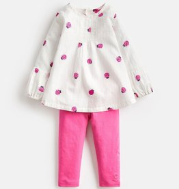 Joules Joules Ladybird Blouse and Legging Set