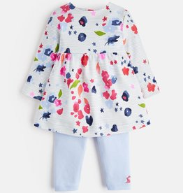 Joules Joules Christina Floral Stripe Dress and Legging Set