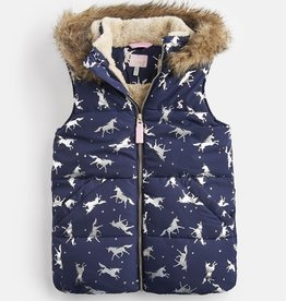 Joules Joules Glitter Unicorn Vest with Hood